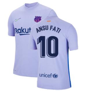 2021-2022 Barcelona Vapor Away Shirt (ANSU FATI 10)
