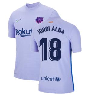 2021-2022 Barcelona Vapor Away Shirt (JORDI ALBA 18)