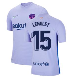 2021-2022 Barcelona Vapor Away Shirt (LENGLET 15)