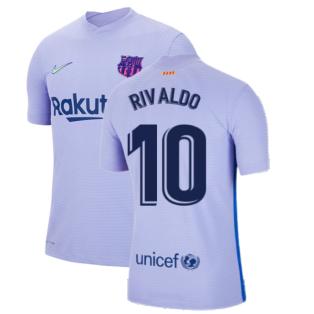 2021-2022 Barcelona Vapor Away Shirt (RIVALDO 10)