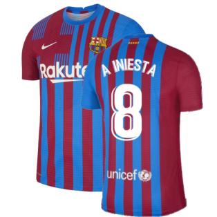 2021-2022 Barcelona Vapor Match Home Shirt (A INIESTA 8)