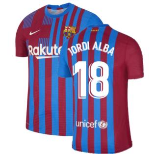 2021-2022 Barcelona Vapor Match Home Shirt (JORDI ALBA 18)