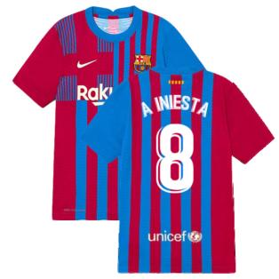 2021-2022 Barcelona Vapor Match Home Shirt (Kids) (A INIESTA 8)