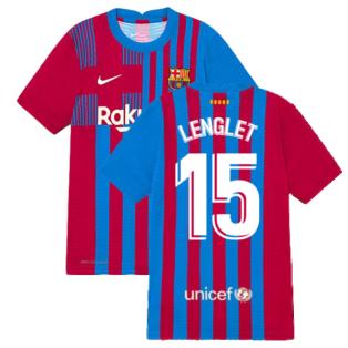 2021-2022 Barcelona Vapor Match Home Shirt (Kids) (LENGLET 15)