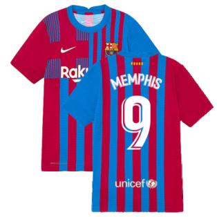 2021-2022 Barcelona Vapor Match Home Shirt (Kids) (MEMPHIS 9)