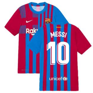 2021-2022 Barcelona Vapor Match Home Shirt (Kids) (MESSI 10)