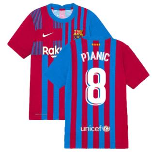 2021-2022 Barcelona Vapor Match Home Shirt (Kids) (PJANIC 8)
