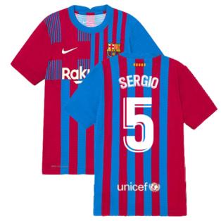 2021-2022 Barcelona Vapor Match Home Shirt (Kids) (SERGIO 5)