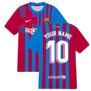 2021-2022 Barcelona Vapor Match Home Shirt (Kids) (Your Name)