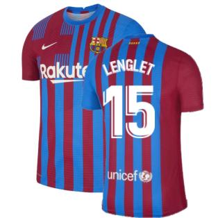 2021-2022 Barcelona Vapor Match Home Shirt (LENGLET 15)