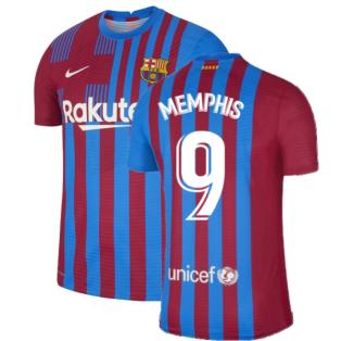 2021-2022 Barcelona Vapor Match Home Shirt (MEMPHIS 9)