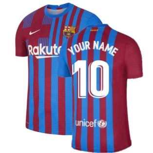 2021-2022 Barcelona Vapor Match Home Shirt (Your Name)
