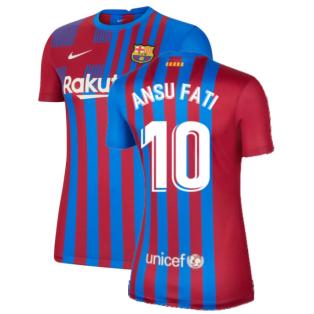 2021-2022 Barcelona Womens Home Shirt (ANSU FATI 10)