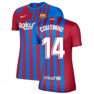 2021-2022 Barcelona Womens Home Shirt (COUTINHO 14)