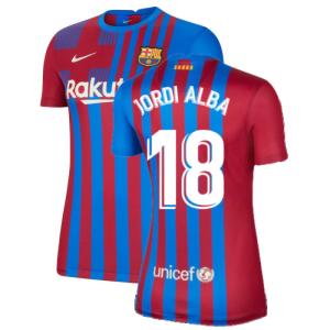 2021-2022 Barcelona Womens Home Shirt (JORDI ALBA 18)