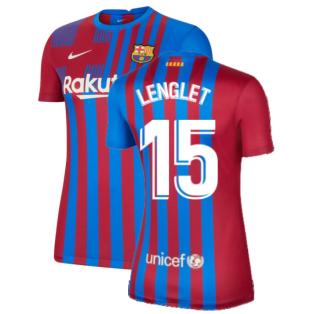 2021-2022 Barcelona Womens Home Shirt (LENGLET 15)