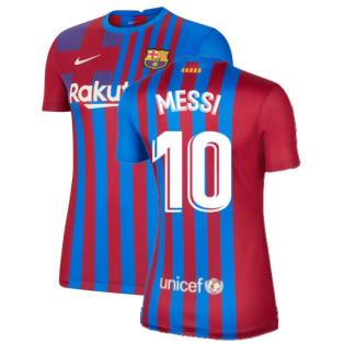 2021-2022 Barcelona Womens Home Shirt (MESSI 10)