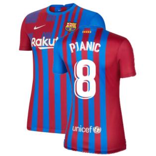 2021-2022 Barcelona Womens Home Shirt (PJANIC 8)