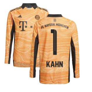 2021-2022 Bayern Munich Home Goalkeeper Shirt (Orange) (KAHN 1)