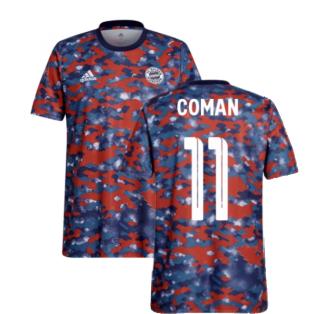 2021-2022 Bayern Munich Pre-Match Jersey (Dark Marine) - Kids (COMAN 11)