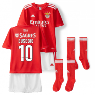 2021-2022 Benfica Home Little Boys Mini Kit (EUSEBIO 10)