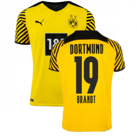 2021-2022 Borussia Dortmund Authentic Home Shirt (BRANDT 19)