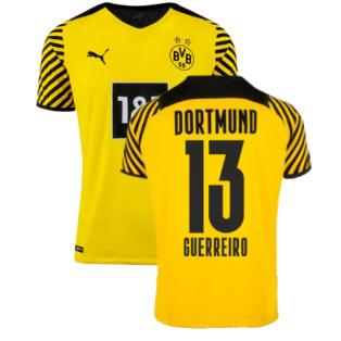 2021-2022 Borussia Dortmund Authentic Home Shirt (GUERREIRO 13)
