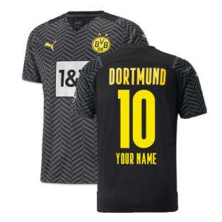 2021-2022 Borussia Dortmund Away Shirt (Your Name)