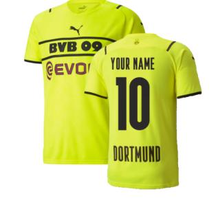 2021-2022 Borussia Dortmund CUP Shirt (Kids) (Your Name)