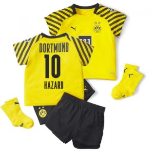 2021-2022 Borussia Dortmund Home Baby Kit (HAZARD 10)
