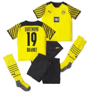 2021-2022 Borussia Dortmund Home Mini Kit (BRANDT 19)