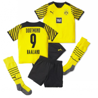 2021-2022 Borussia Dortmund Home Mini Kit (HAALAND 9)