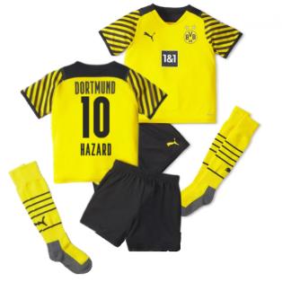 2021-2022 Borussia Dortmund Home Mini Kit (HAZARD 10)
