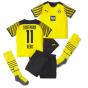 2021-2022 Borussia Dortmund Home Mini Kit (REUS 11)