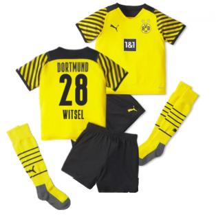2021-2022 Borussia Dortmund Home Mini Kit (WITSEL 28)