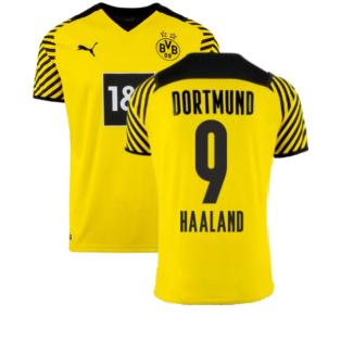 2021-2022 Borussia Dortmund Home Shirt (HAALAND 9)