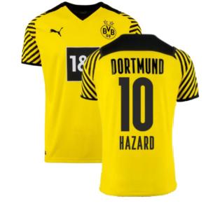 2021-2022 Borussia Dortmund Home Shirt (HAZARD 10)