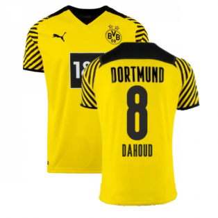 2021-2022 Borussia Dortmund Home Shirt (Kids) (DAHOUD 8)