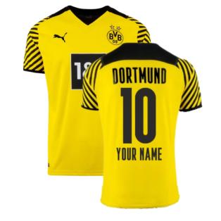 2021-2022 Borussia Dortmund Home Shirt (Kids) (Your Name)