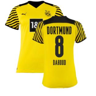 2021-2022 Borussia Dortmund Home Shirt (Ladies) (DAHOUD 8)
