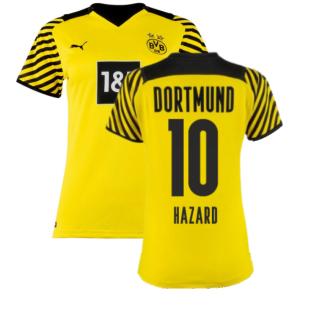2021-2022 Borussia Dortmund Home Shirt (Ladies) (HAZARD 10)