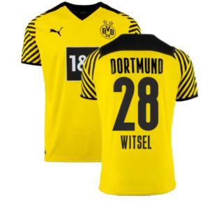 2021-2022 Borussia Dortmund Home Shirt (WITSEL 28)