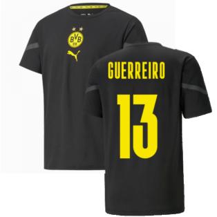 2021-2022 Borussia Dortmund Pre Match Shirt (Black) - Kids (GUERREIRO 13)