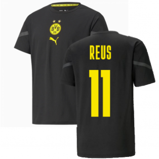 2021-2022 Borussia Dortmund Pre Match Shirt (Black) - Kids (REUS 11)