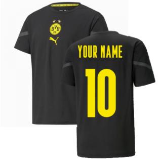 2021-2022 Borussia Dortmund Pre Match Shirt (Black) - Kids (Your Name)