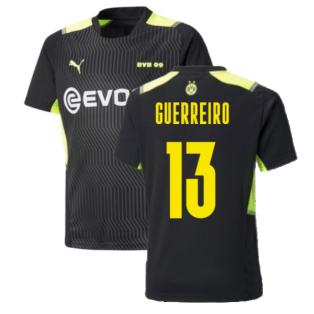 2021-2022 Borussia Dortmund Training Jersey (Black) (GUERREIRO 13)