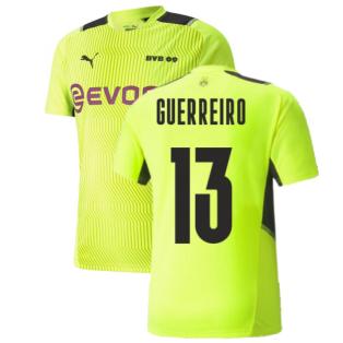 2021-2022 Borussia Dortmund Training Jersey (Yellow) (GUERREIRO 13)