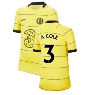 2021-2022 Chelsea Away Shirt (Kids) (A COLE 3)