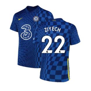 2021-2022 Chelsea Home Shirt (ZIYECH 22)