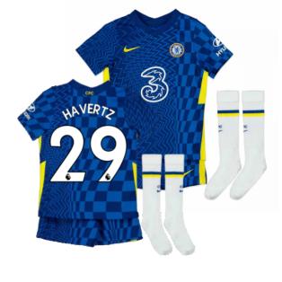 2021-2022 Chelsea Little Boys Home Mini Kit (HAVERTZ 29)